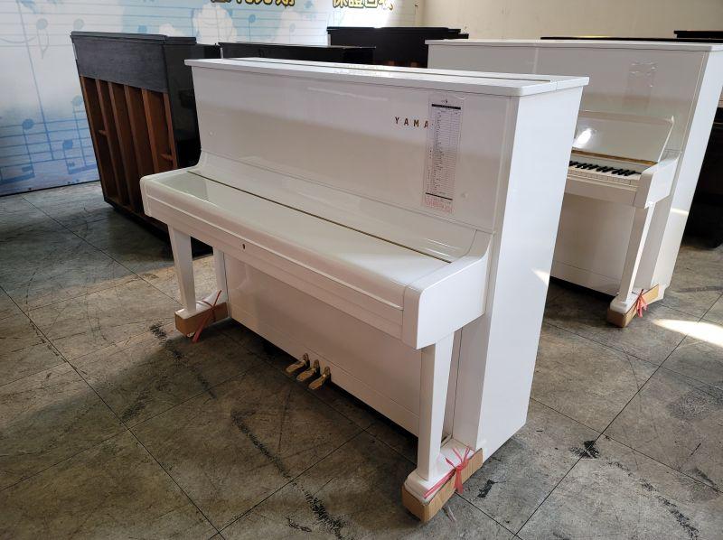 白色二手鋼琴 YAMAHA U1 日本製 0980494792 黃先生