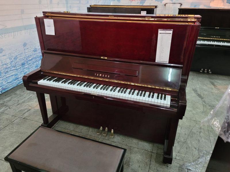 酒紅色木紋鋼琴 原木鋼琴 YAMAHA U3 鋼琴回收 0980494792