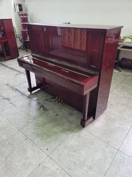 酒紅色日本製造YAMAHA U3 中古鋼琴回收 二手鋼琴收購 黃先生 0980494792